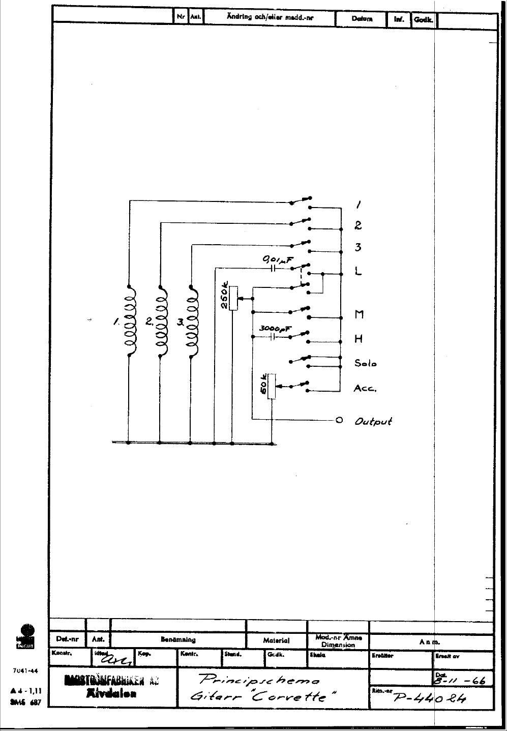 Hagström Schematics on