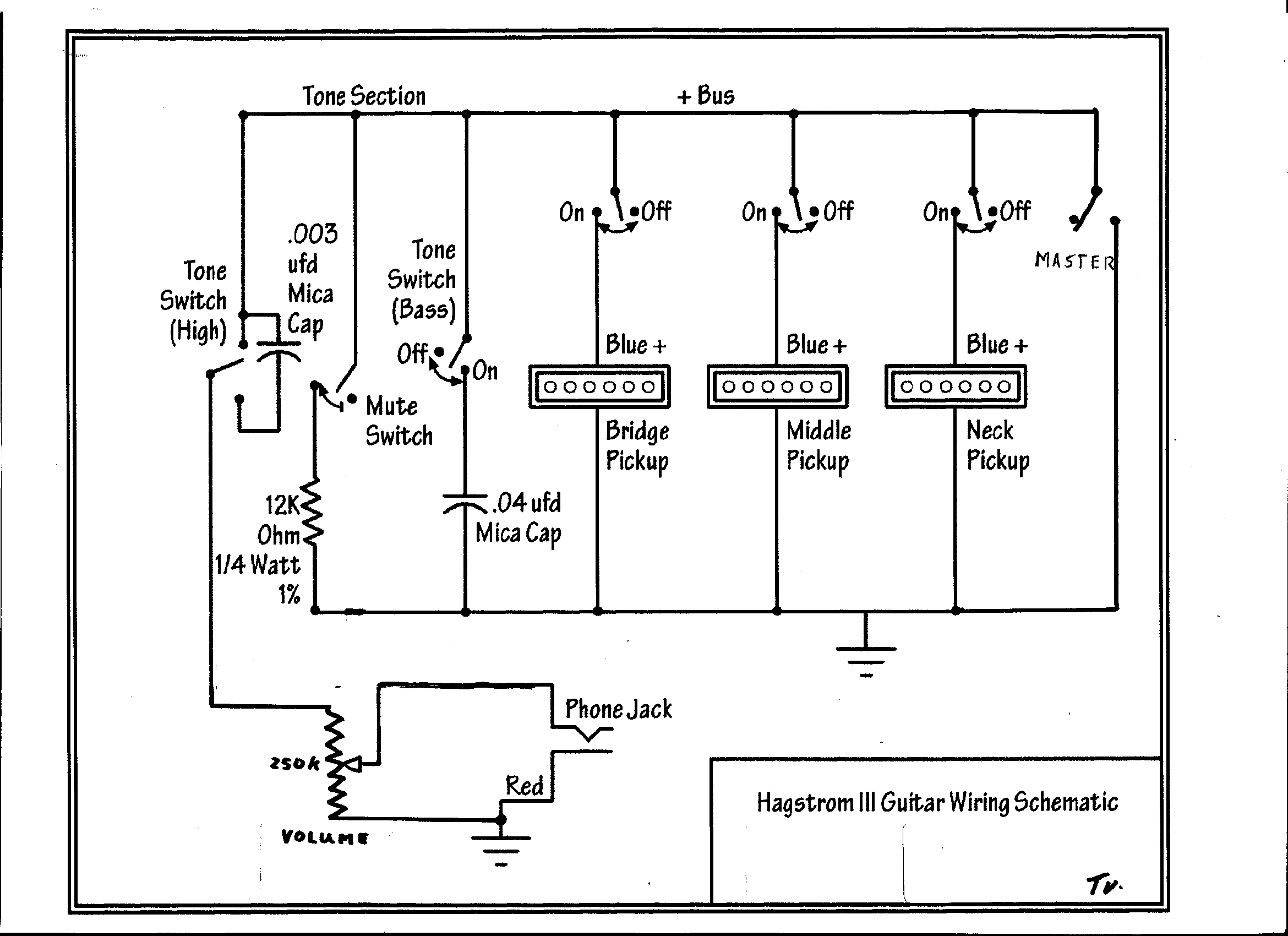 Hagstrm Schematics P90 Pickup Wiring Diagrams Updated