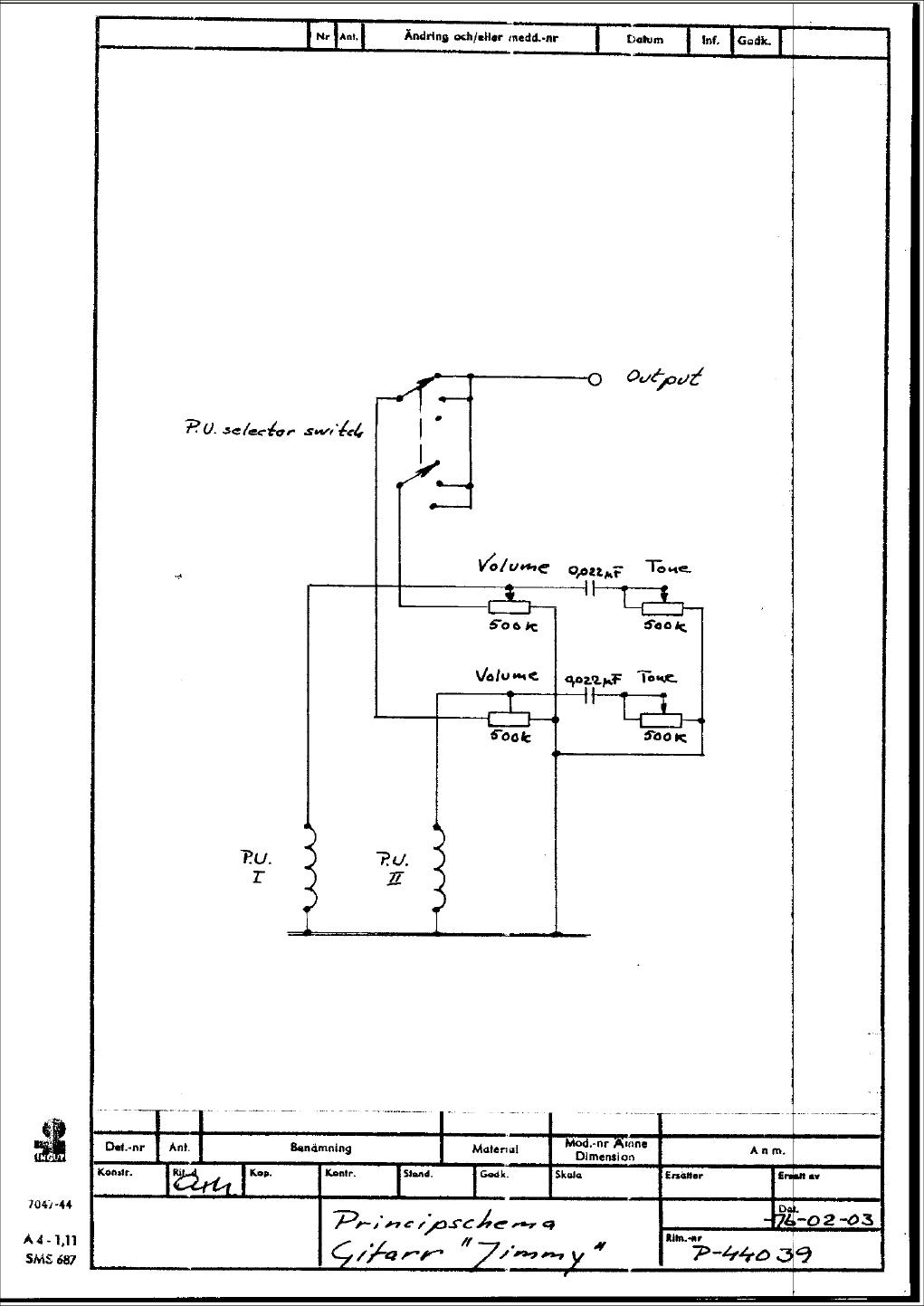Hagström Schematics Fender Telecaster 3-Way Wiring Diagram Hagstrom Wiring  Diagram
