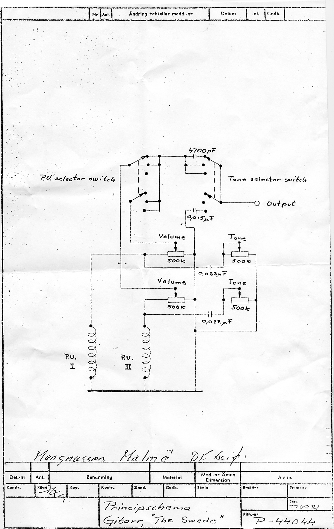 hagstr m schematics rh hagstrom org uk hagstrom super swede wiring diagram Bass Boat Wiring Diagram