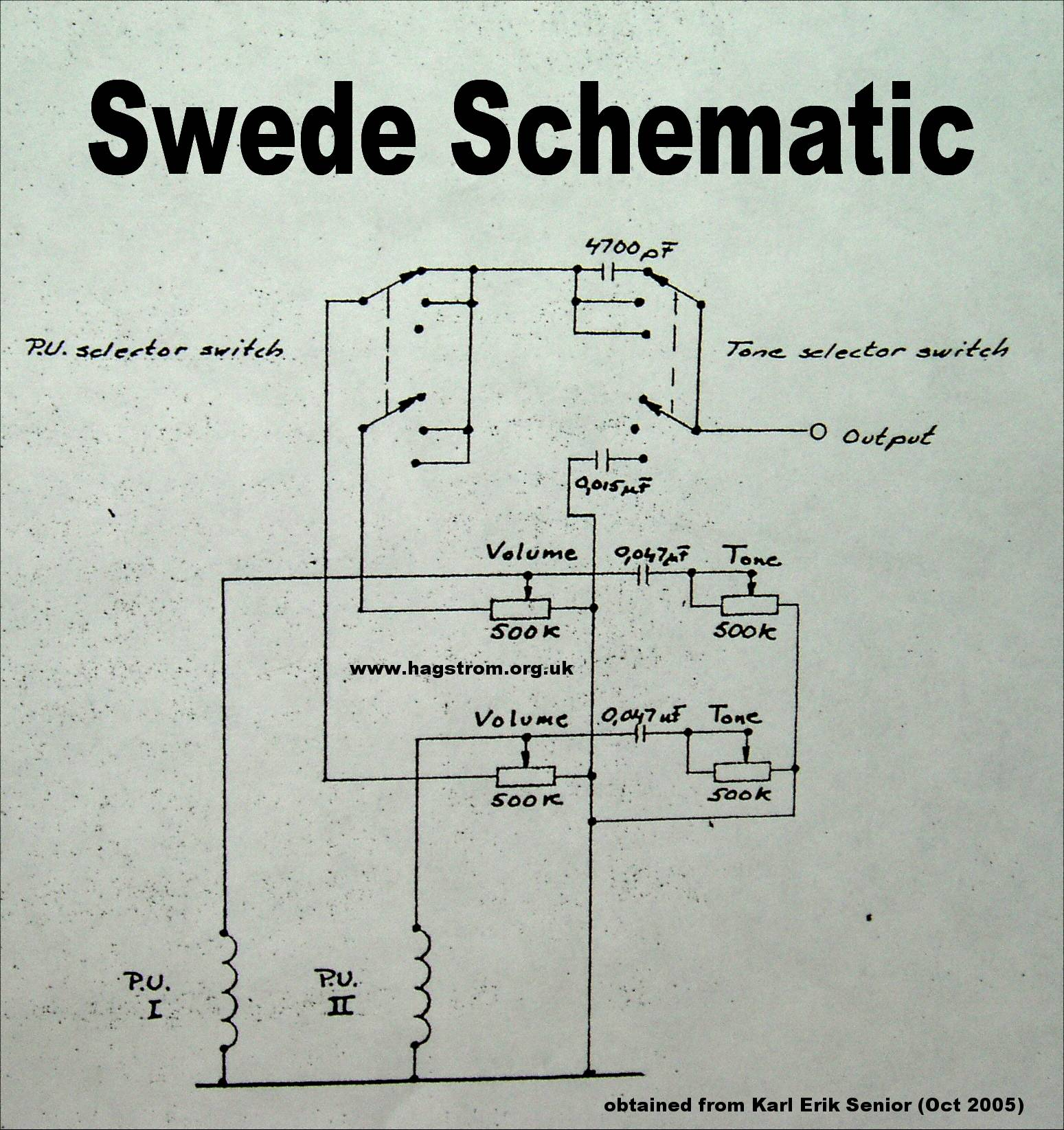 Hagström Schematics on
