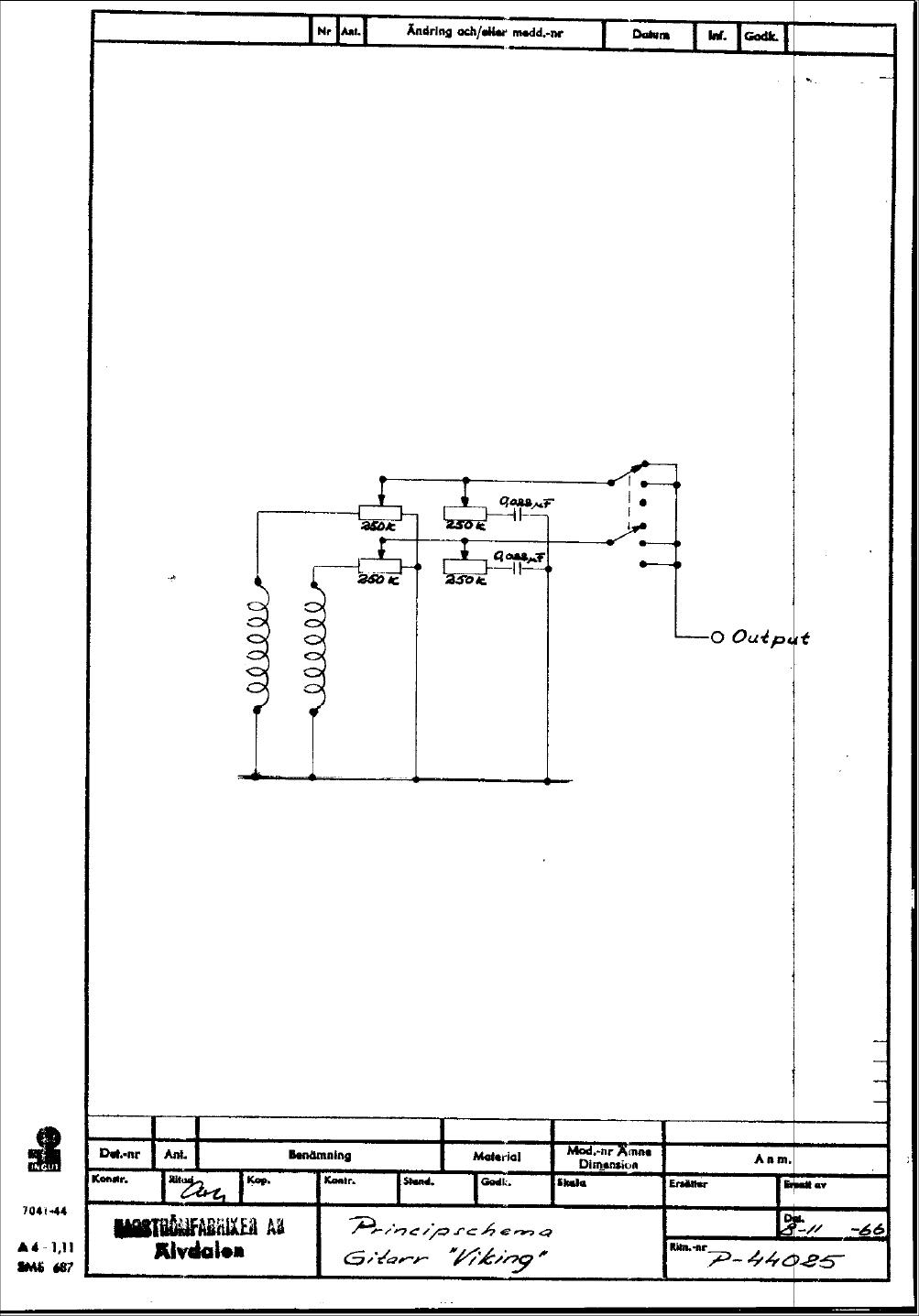 hagström schematics viking 1966 era