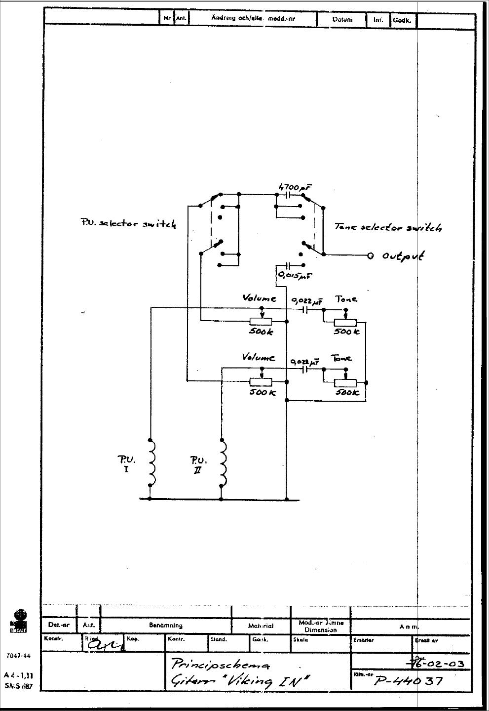 Hagstrm Schematics Viking C 1000b Wiring Diagram For In 1976 Era